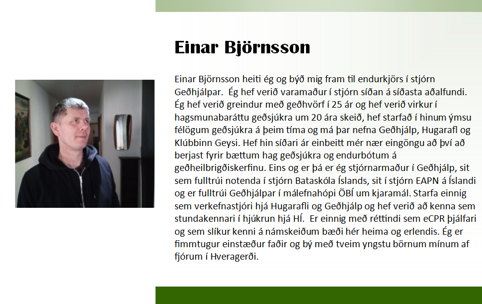 Einar 2018 framboð
