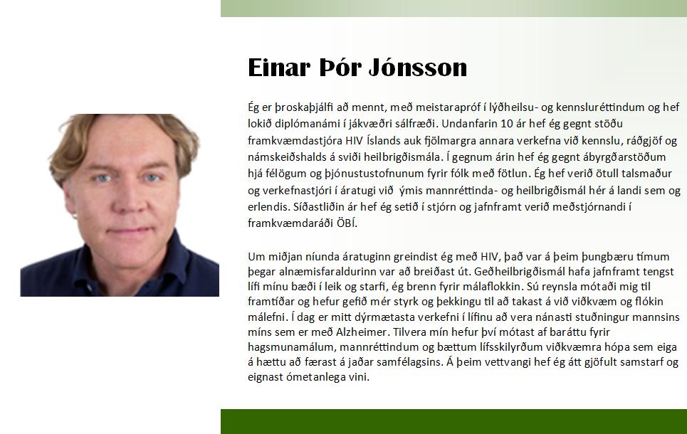 Einar Þór 2018 framboð