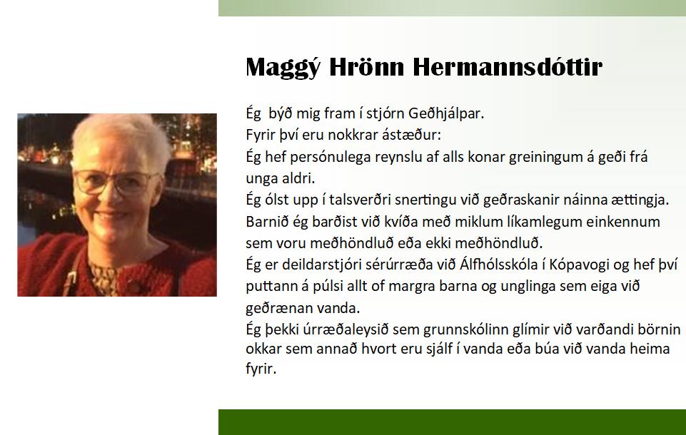 Maggý 2018 framboð